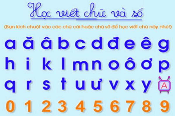 Trẻ chỉ cần làm quen với 24 chữ cái