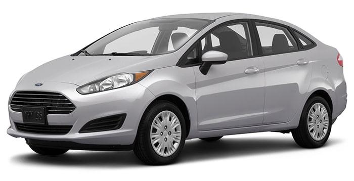 Thiết kế xe Ford màu bạc sang trọng của dòng Fiesta
