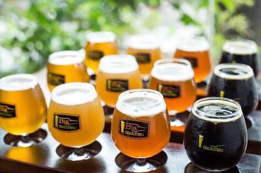 Bia thủ công có rất nhiều màu sắc và hương vị khác nhau