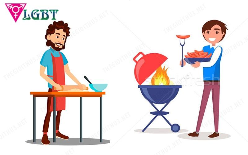 Những anh chàng công thường biết nấu ăn