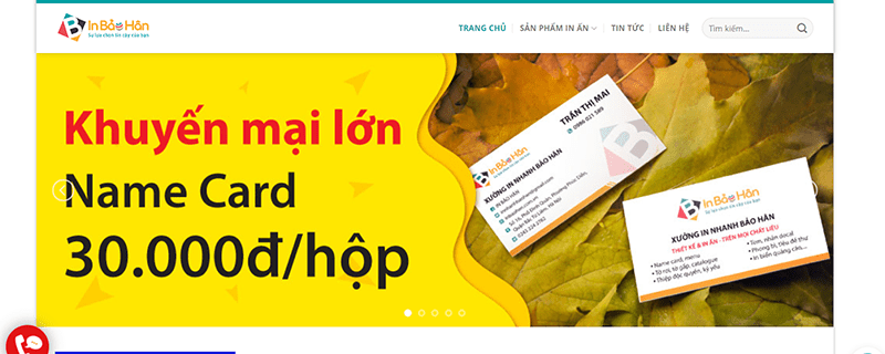 Website công ty In Bảo Hân