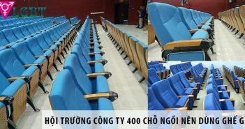 Thiết kế hội trường công ty 400 chỗ ngồi nên dùng ghế gì?
