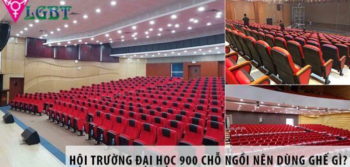 Thiết kế hội trường đại học 900 chỗ nên dùng ghế gì?