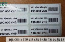 Địa chỉ in tem giá sản phẩm tại quận Ba Đình giá rẻ