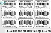 Xưởng in tem giá sản phẩm tại quận Tây Hồ rẻ nhất