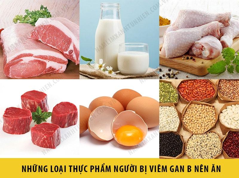 Những thức ăn mà người bị viêm gan B nên ăn